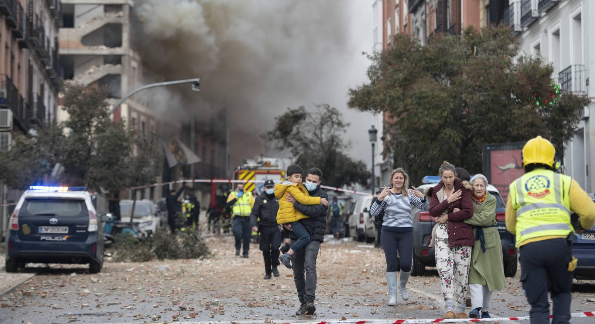 España: Explosión en el centro de Madrid deja al menos 2 fallecidos y varias personas heridas