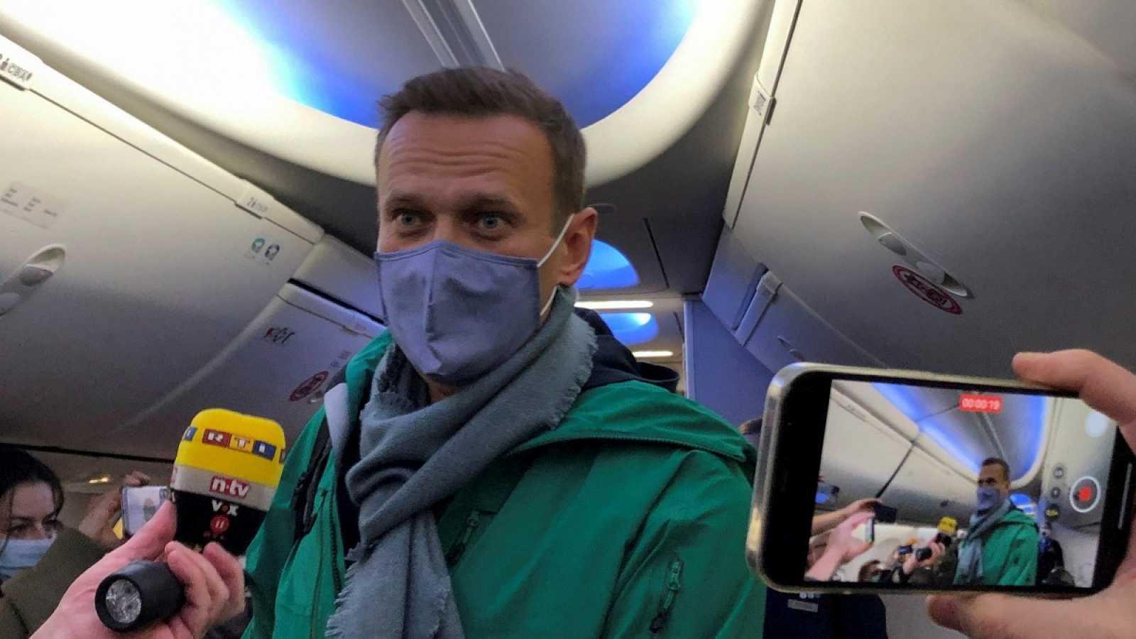 Rusia: Alexei Navalny fue detenido en aeropuerto de Moscú y permanecerá bajo custodia policial por 30 días