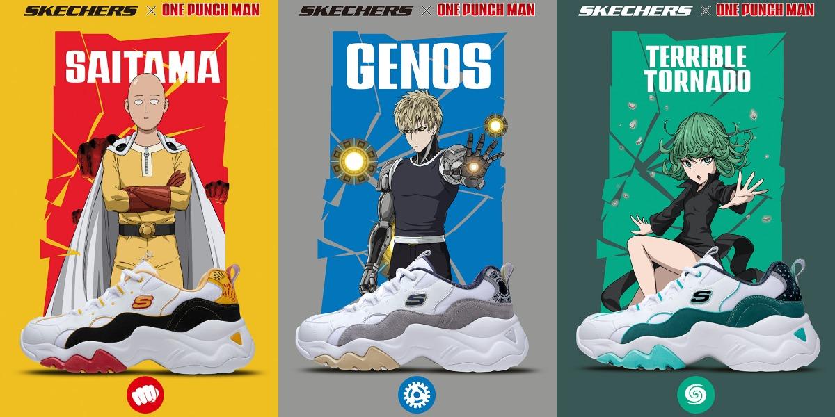 """Skechers se inspira en el anime """"One Punch Man"""" en su nueva colección de zapatillas y hoodies"""