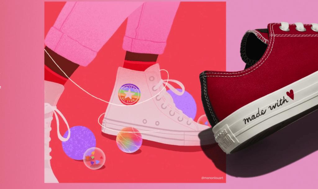 Converse celebra la diversidad y el amor LGBTQI+ con sus nuevas zapatillas especiales para San Valentín