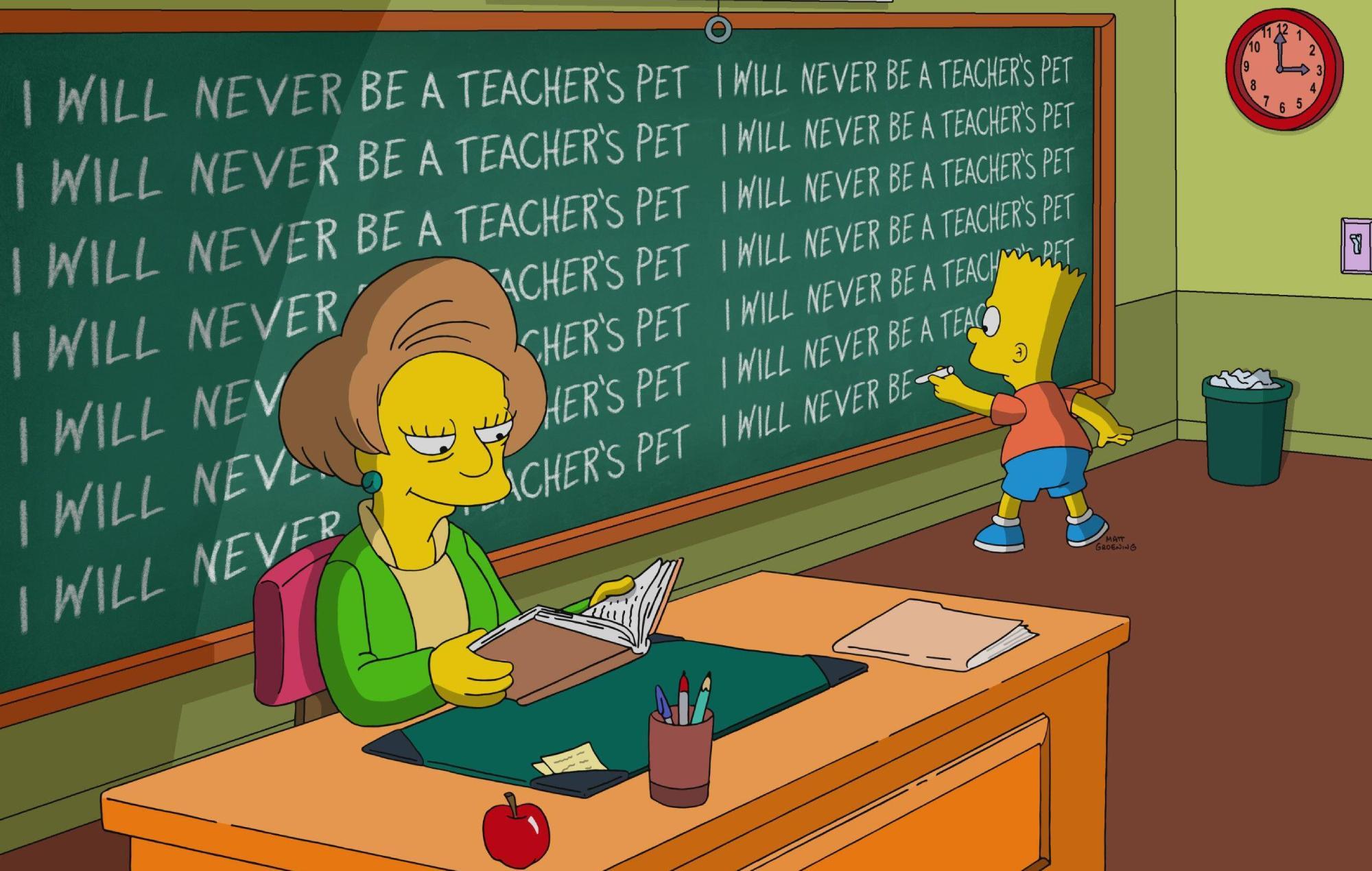 """Los Simpson"" le da el último adiós a Edna Krabappel"