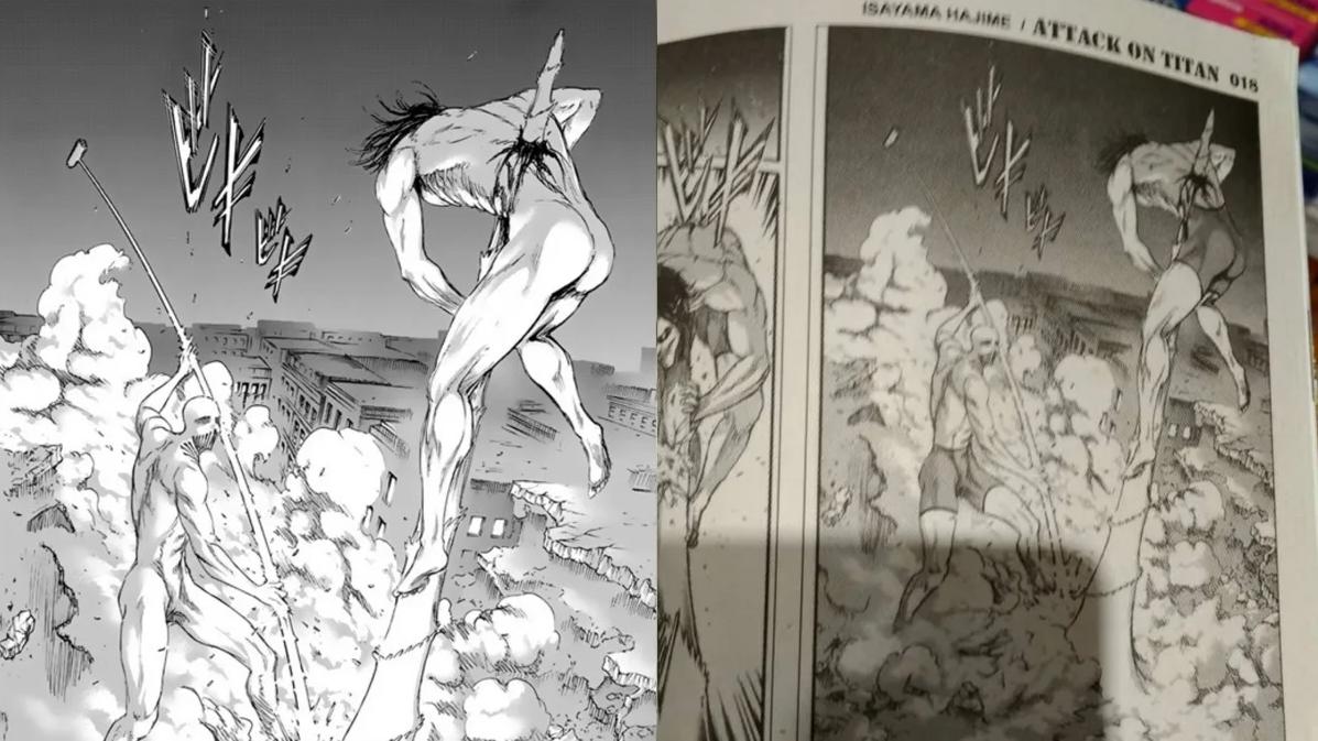 """Malasia censuró el manga de """"Attack On Titan"""" poniendo ropa interior en sus personajes"""