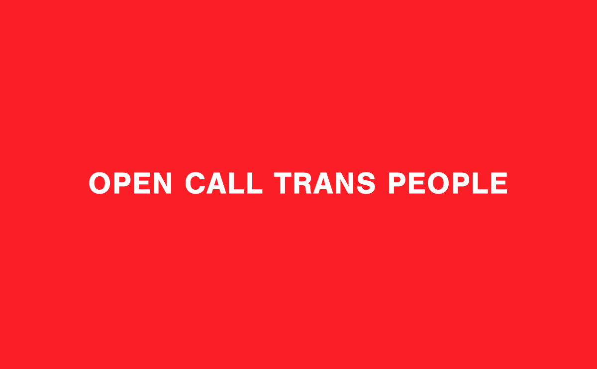 31M: Convocatoria abierta para personas trans