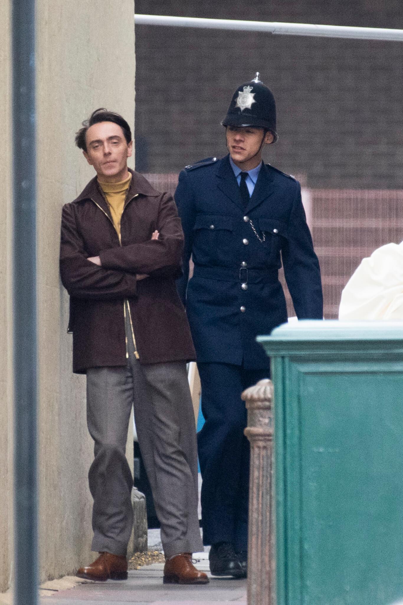 """Rodaje en el set de """"My Policeman"""". Fotografía: Getty Images"""