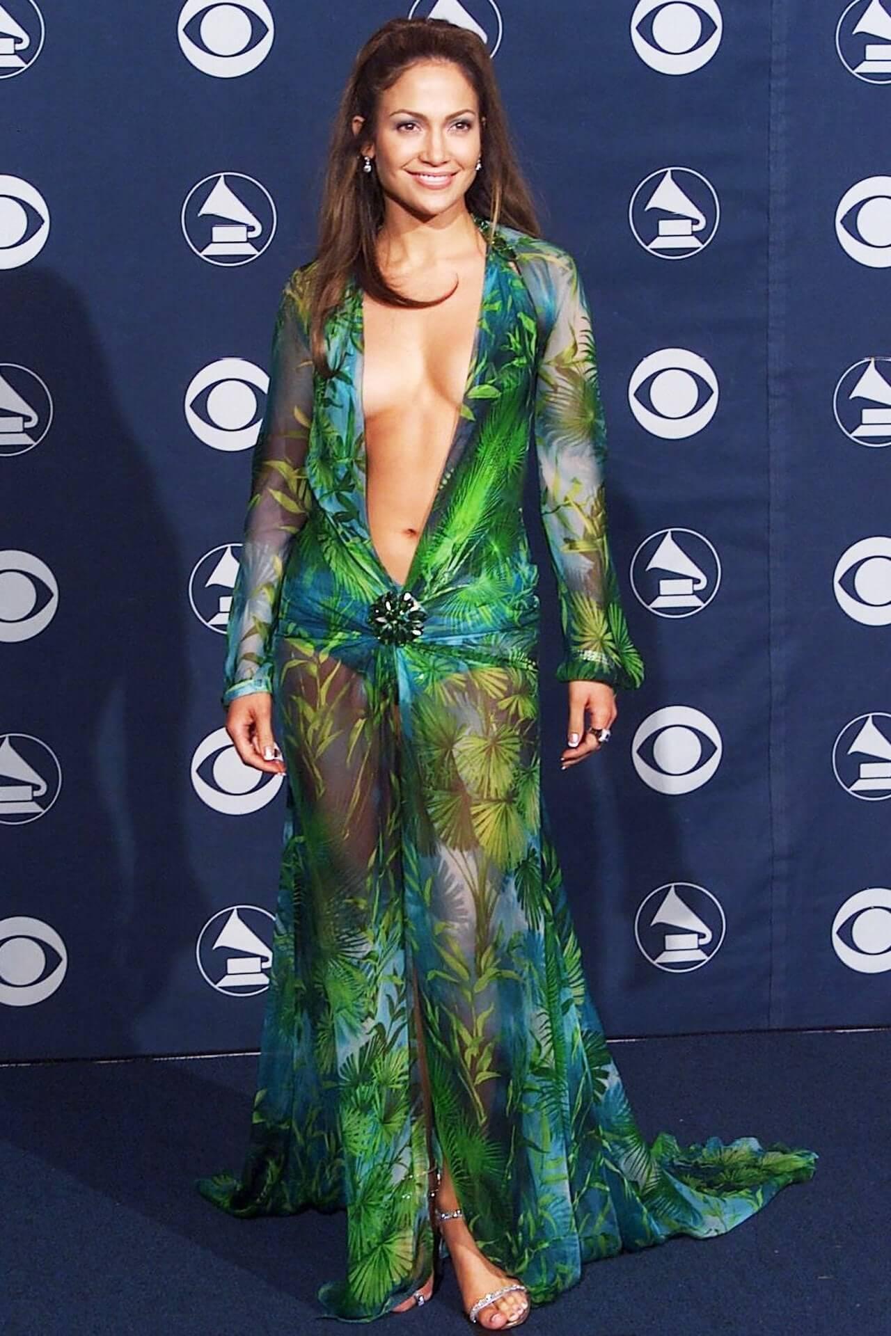 JLo y su famoso vestido de Versace. Fotogarfía: Getty