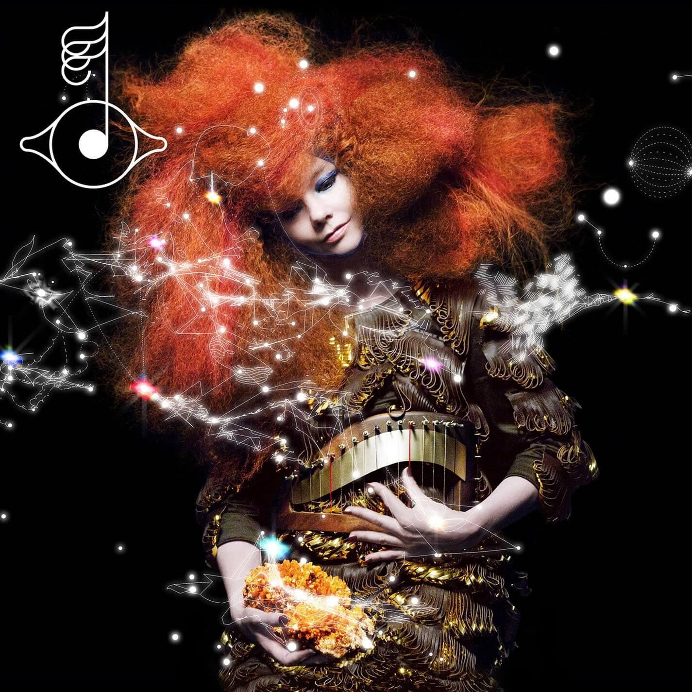 "Portada del álbum ""Biophilia"" de Björk."