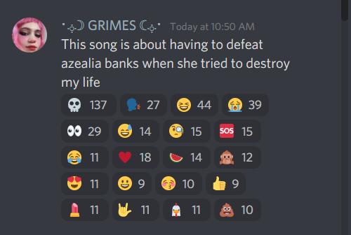 Lo que Grimes contó sobre la pista. Fotografía: Reddit