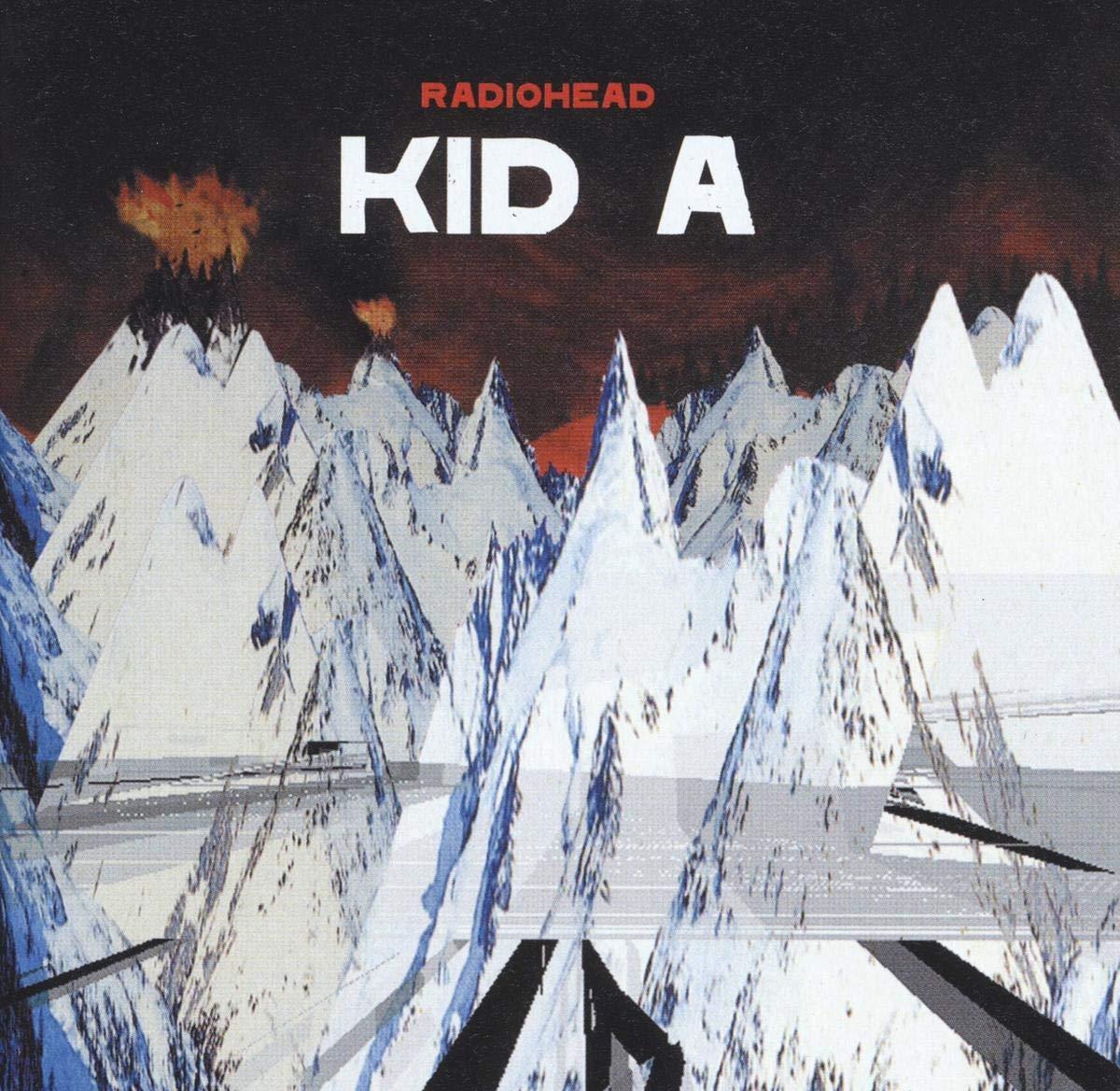 """Portada del álbum """"Kid A"""" de Radiohead."""