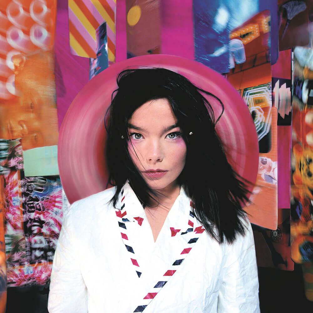 """Portada del álbum """"Post"""" de Björk."""