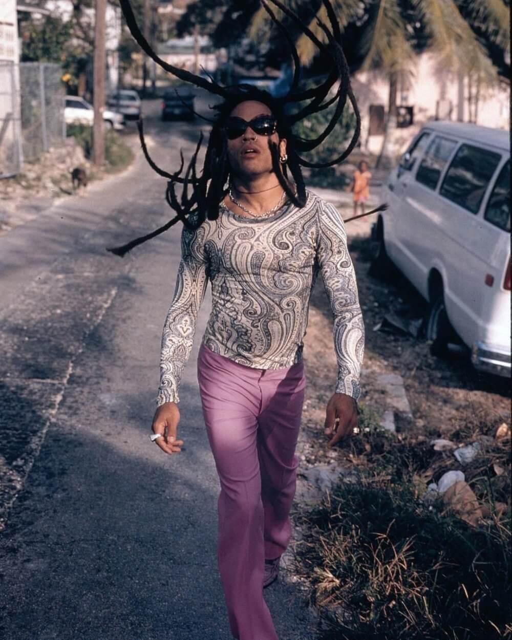 10 looks de Lenny Kravitz que lo convierten en un fashion icon